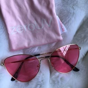 Pink lensed glasses